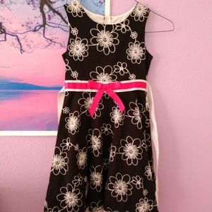 Other - Black white pink dress with ribbon in the back